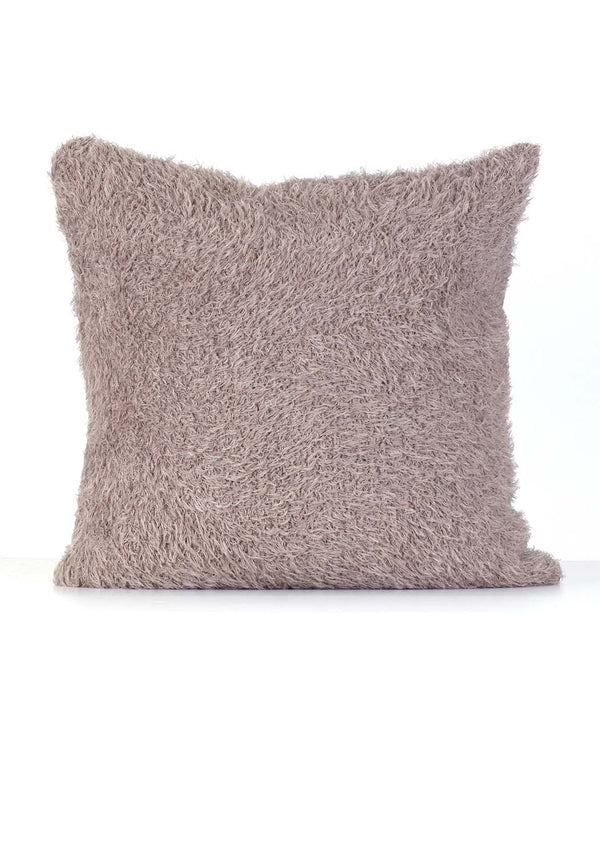 Alpaca Pillow Case - Fur - Cafe