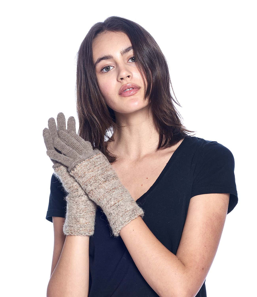 Alpaca Gloves - Caraveli Full - Camel