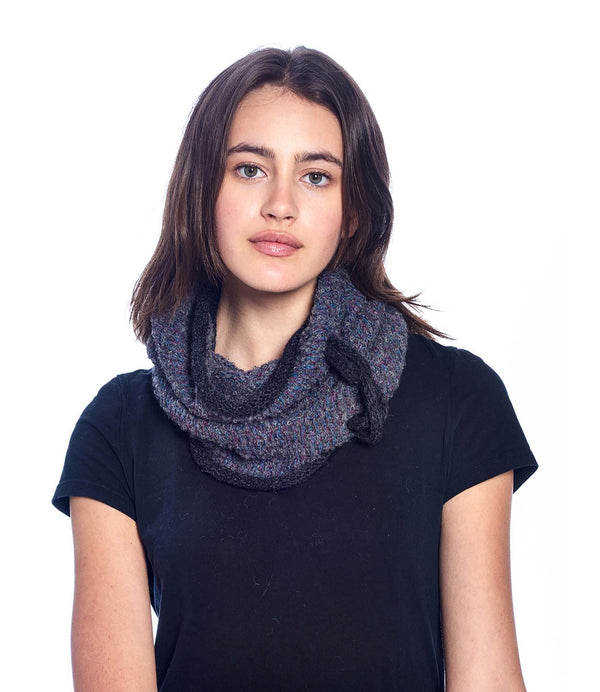 Alpaca Neck Warmer - Caraveli - Smoke