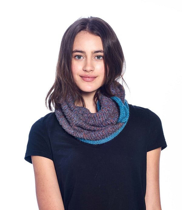 Alpaca Neck Warmer Caraveli Azul by Shupaca