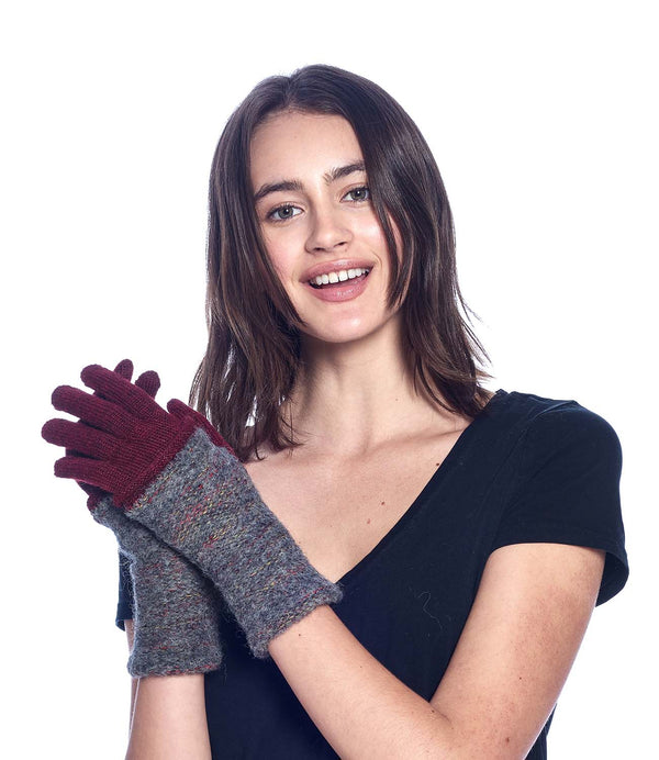 Alpaca Gloves - Caraveli Full - Sangria