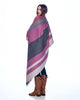 Peruvian Reversible Throw Blanket Sangria by Shupaca