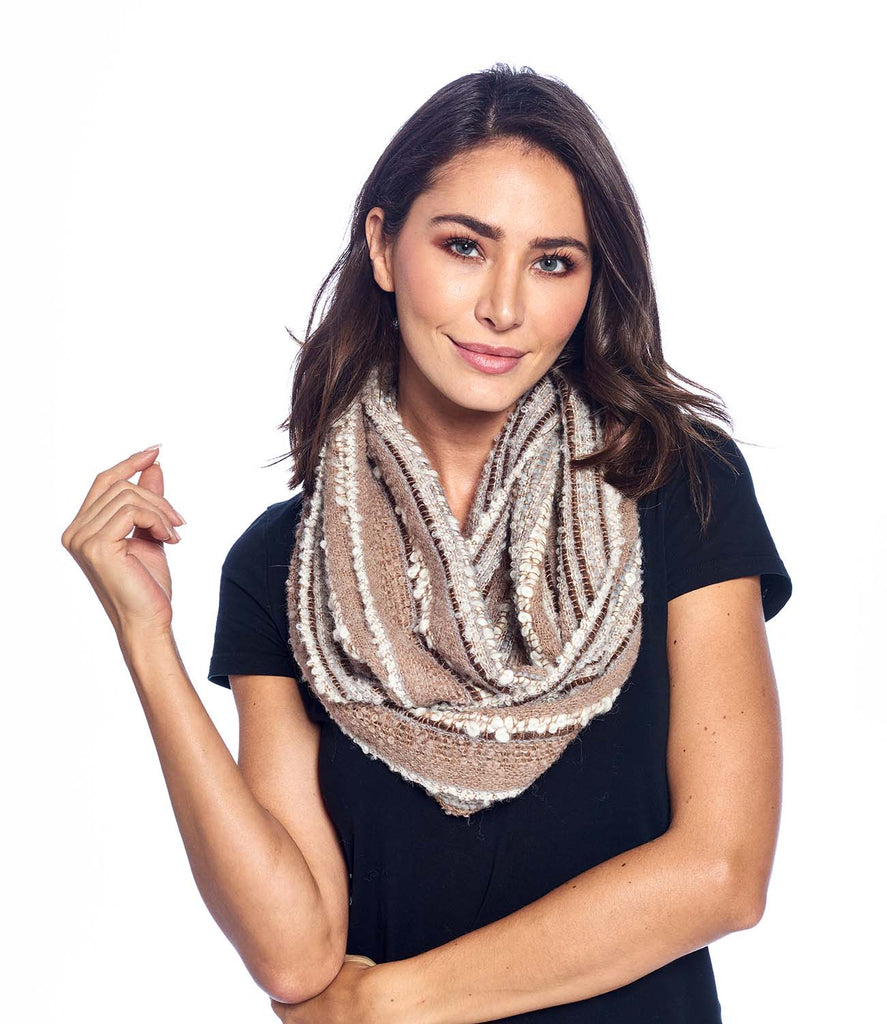 Alpaca Infinity Scarf Boucle Mineral by Shupaca