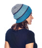Alpaca Beanie Hat Color Block Aqua Shupaca