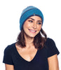 Alpaca Beanie Hat Color Block Aqua by Shupaca