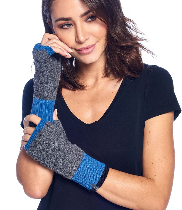 Alpaca Gloves Color Block Azul by Shupaca