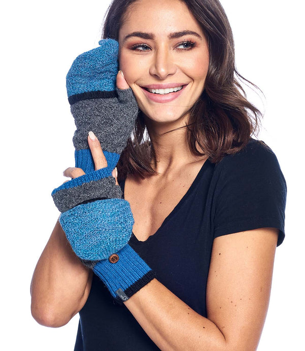 Alpaca Mittens Color Block Azul by Shupaca