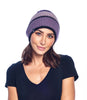 Alpaca Beanie - Color Block - Berry