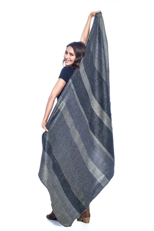 Charcoal Alpaca Throw Blanket by Shupaca