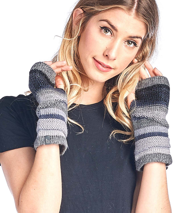 Peruvian Alpaca Gloves Colorado Charcoal Shupaca