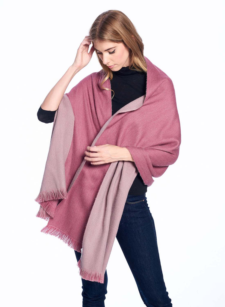 Reversible Alpaca Wrap Renaissance Rose by Shupaca