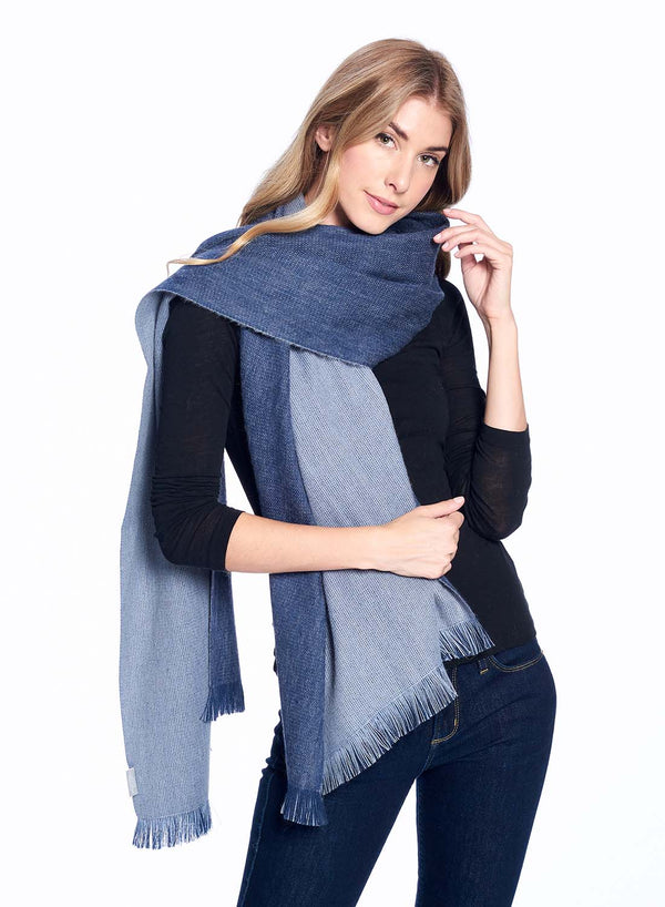 Alpaca Reversible Wrap Royal Shupaca