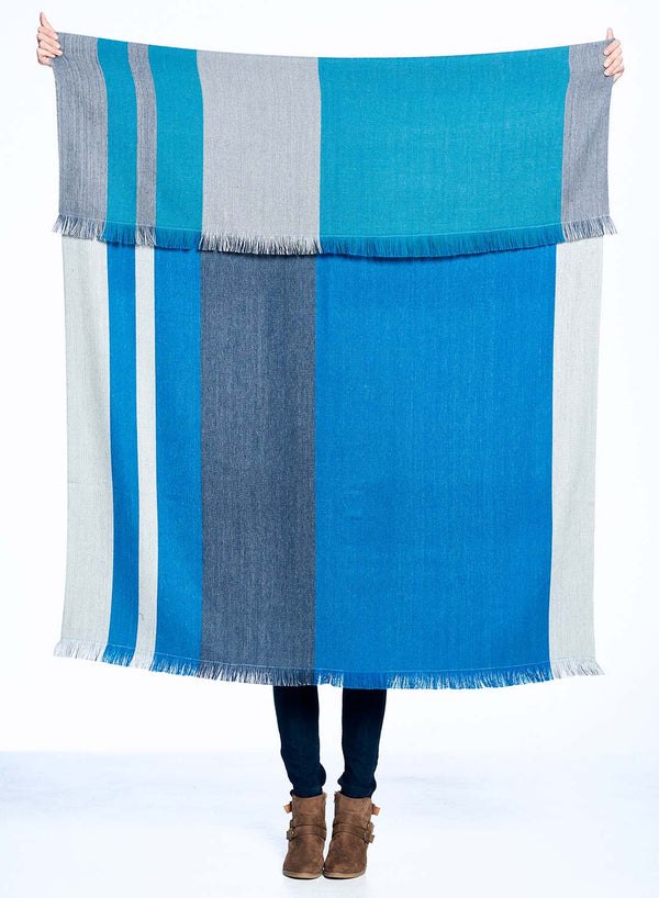 Peruvian Alpaca Reversible Throw Blanket  Shupaca