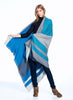 Alpaca Reversible Throw Blanket Blue Nile by Shupaca