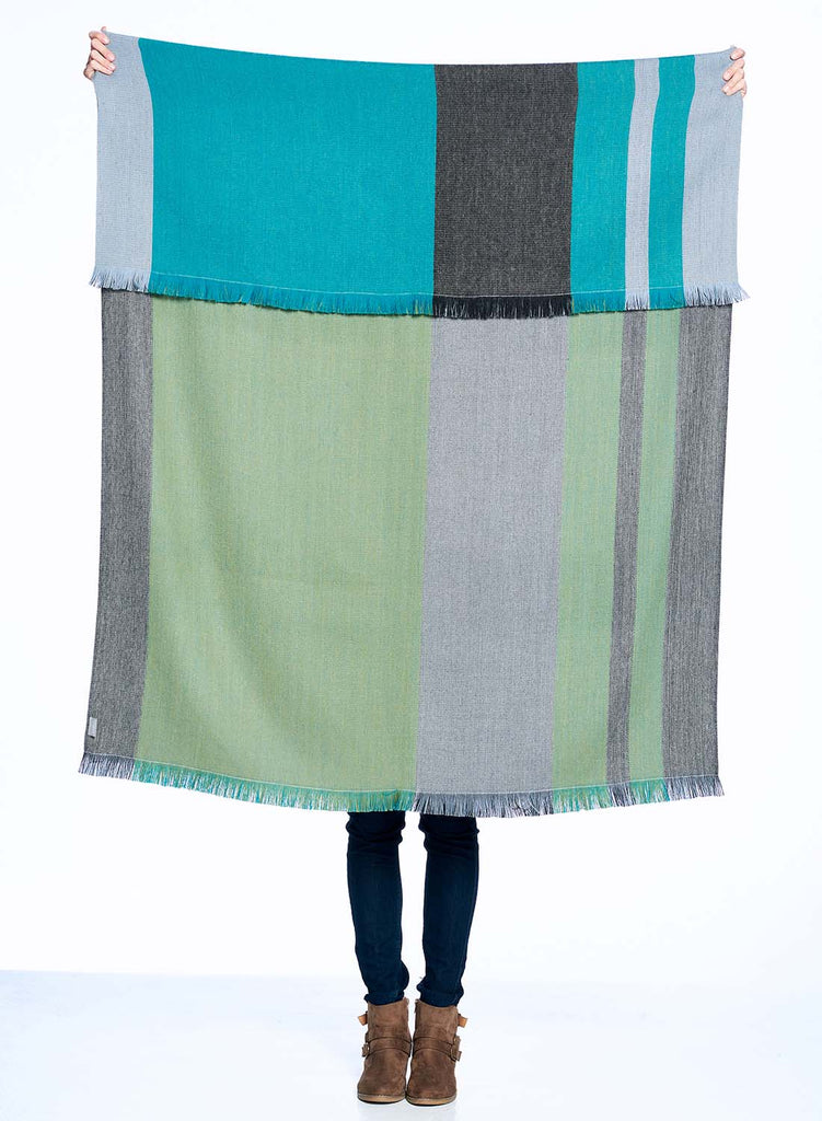 Shupaca Alpaca Reversible Throw Blanket Weeping Willow
