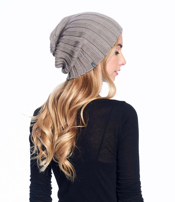 Alpaca Beanie Hat Accordion Sand Shupaca