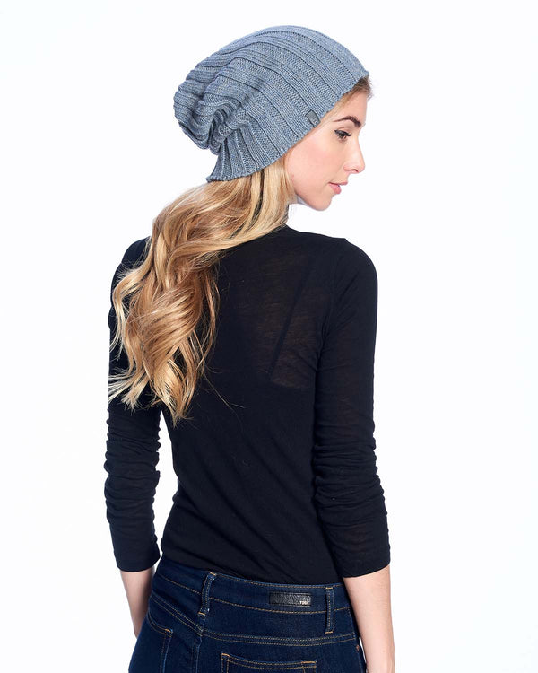 Alpaca Beanie Hat Accordion Storm Shupaca