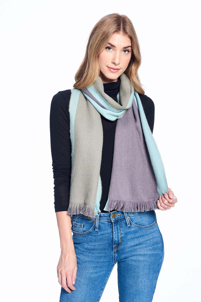 Alpaca Reversible Scarf - Ether