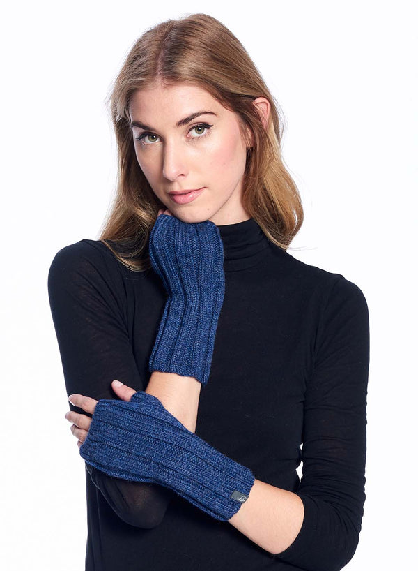 Alpaca Gloves Accordion Azul by Shupaca