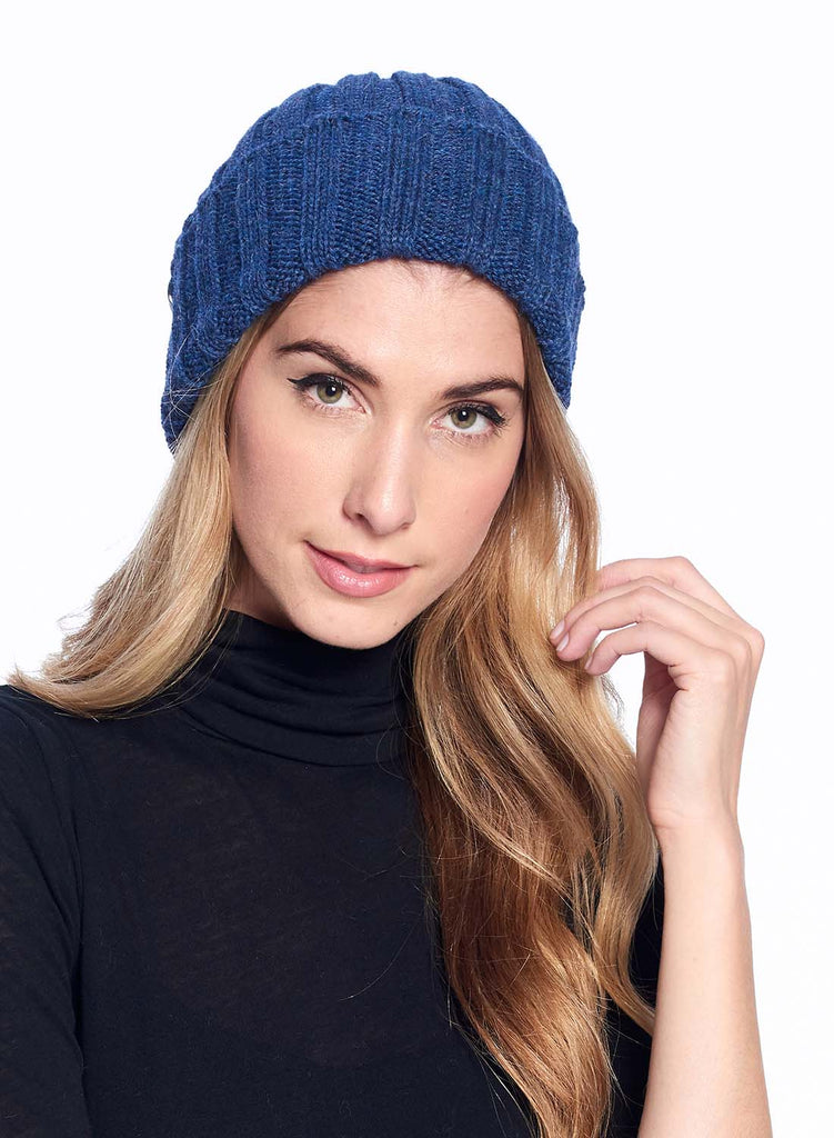 Alpaca Beanie Accordion Azul by Shupaca