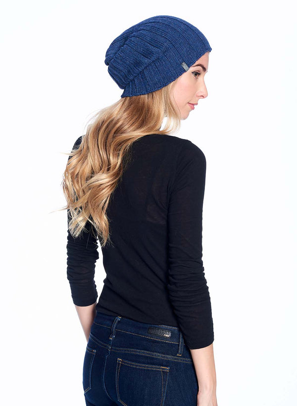 Alpaca Beanie Accordion Azul Shupaca