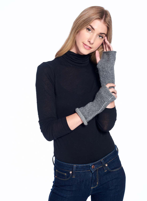Alpaca Gloves - Rustic - Charcoal