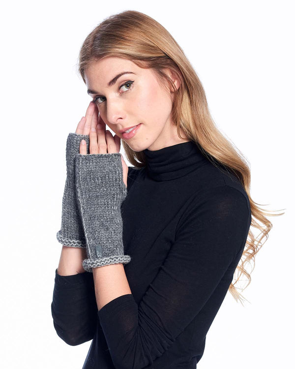 Alpaca Gloves Rustic Charcoal by Shupaca