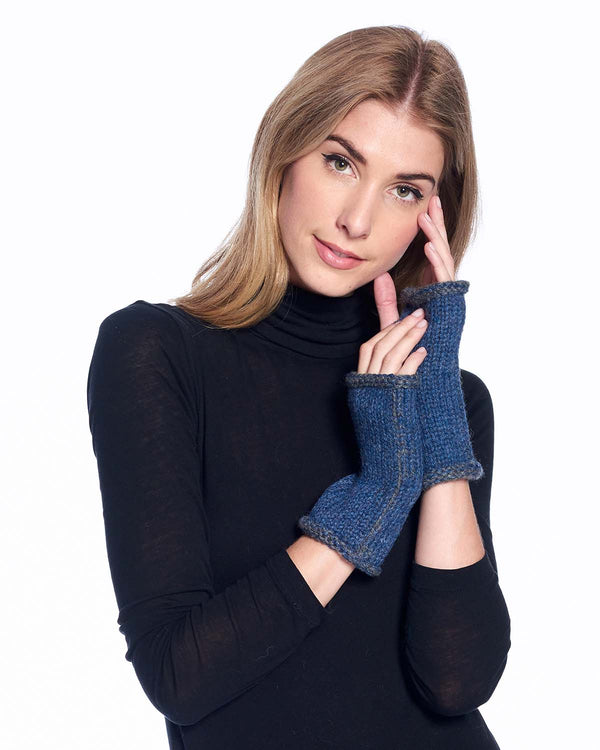 Alpaca Gloves Rustic Royal by Shupaca