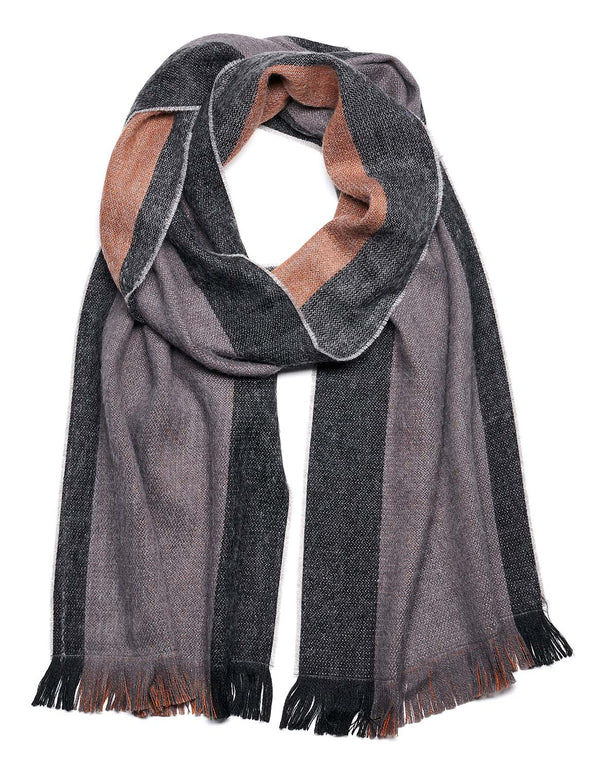 Alpaca Reversible Scarf - Old Leather