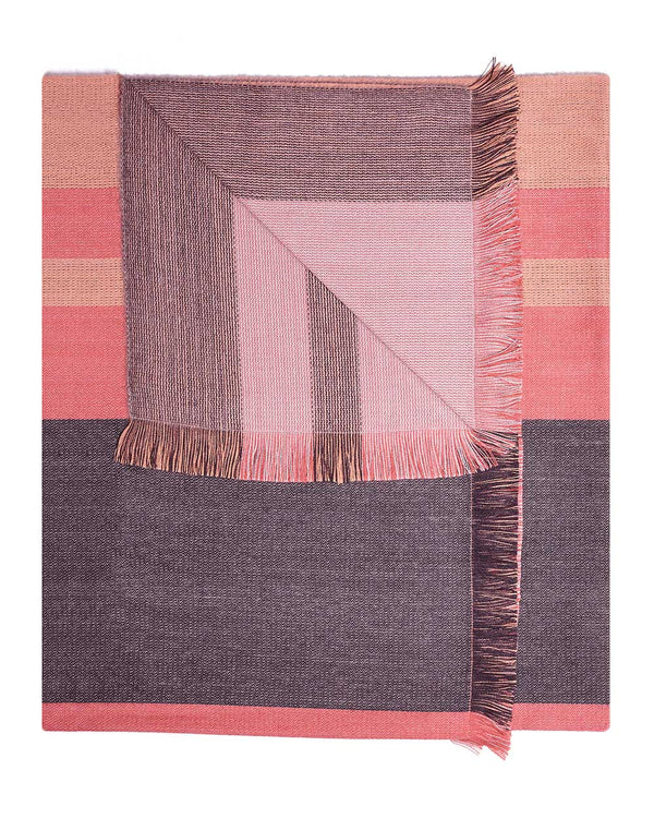 Alpaca Reversible Throw - Peach Bloom