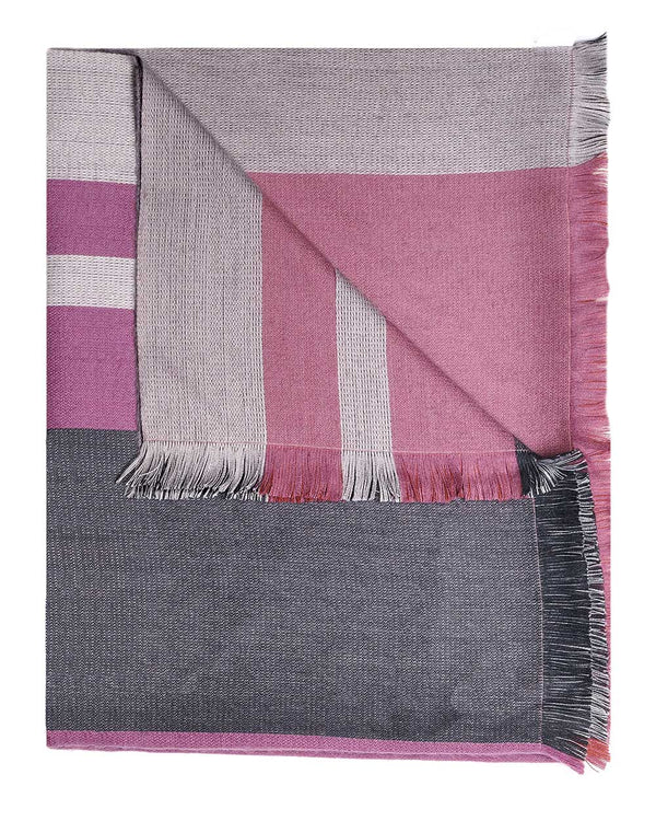 Alpaca Reversible Throw - Sangria