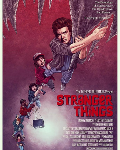Strangers Things (Season 2) Goonies Tribute Poster by Mike McGee