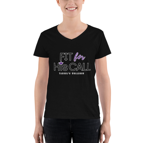Fit for His Call Women's Casual V-Neck Tee