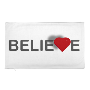 Believe Rectangular Pillow Case