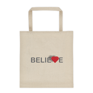 Believe Canvas Tote Bag