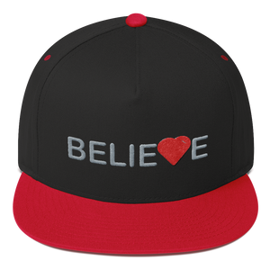 Believe Flat Bill Baseball Cap