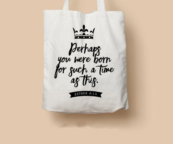 Large Zippered Bible Quote Canvas Tote Bag
