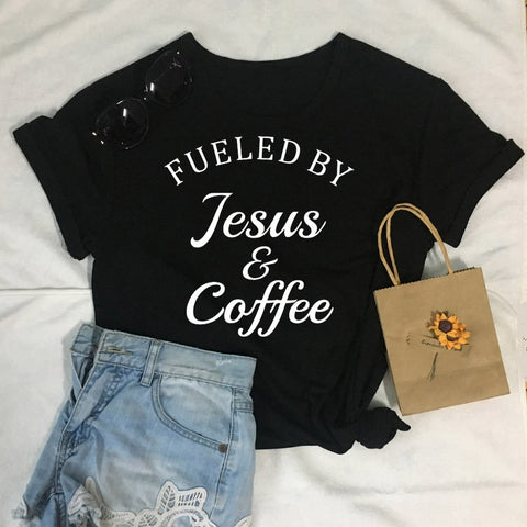 Fueled By Jesus & Coffee Summer T-Shirt