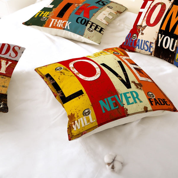 Vintage Books Inspirational Pillow Covers