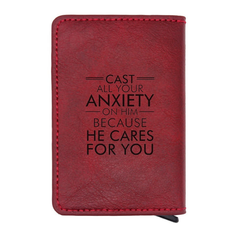 Bible Verse RFID Leather Wallet