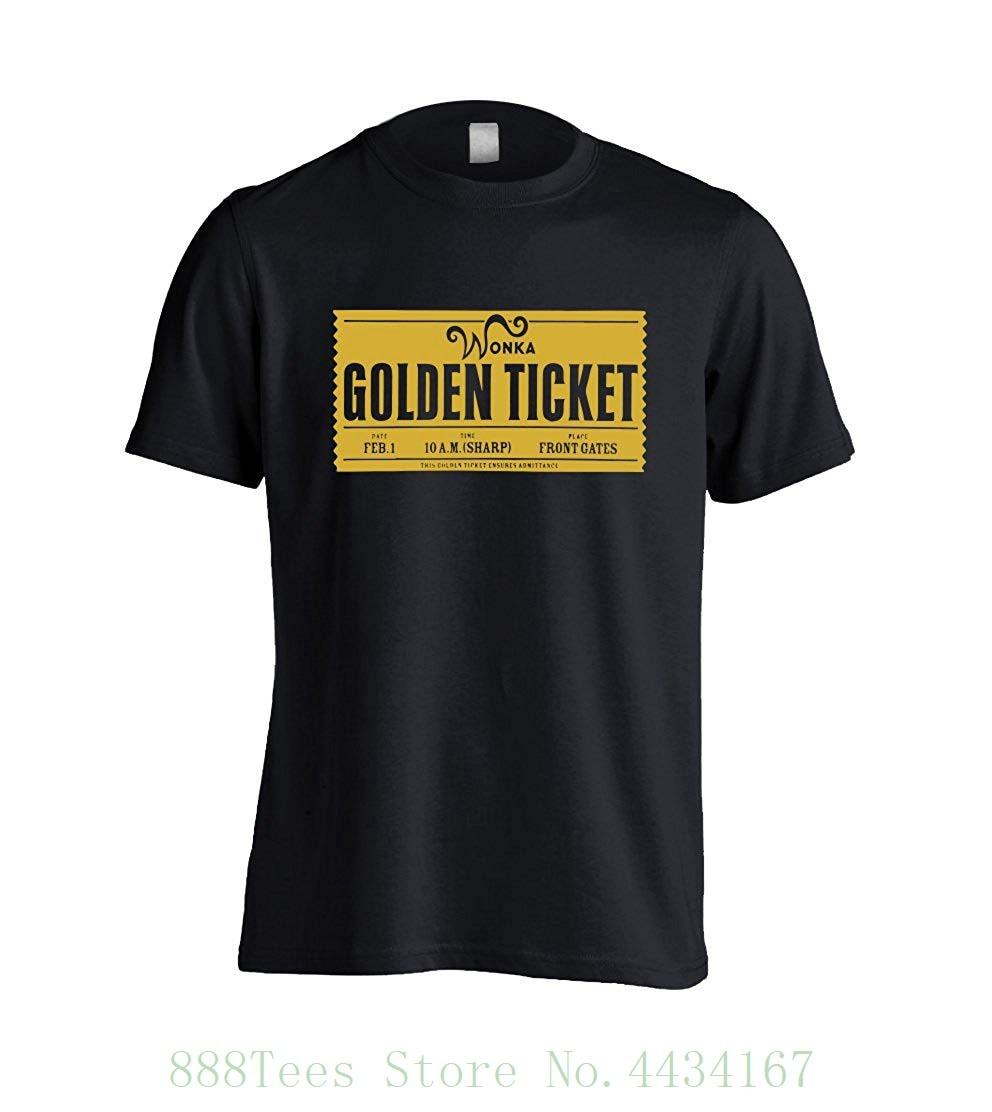 Willy Wonka Golden Ticket Mens T-Shirt