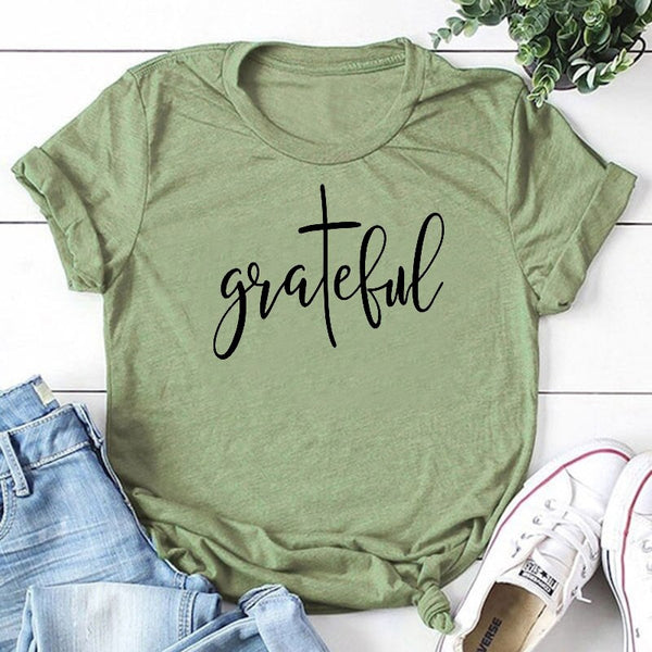 Ladies' Grateful Cotton Graphic T-shirt