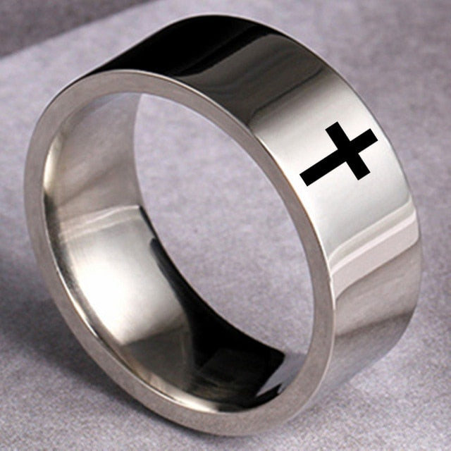 6mm Stainless Steel Cross Ring