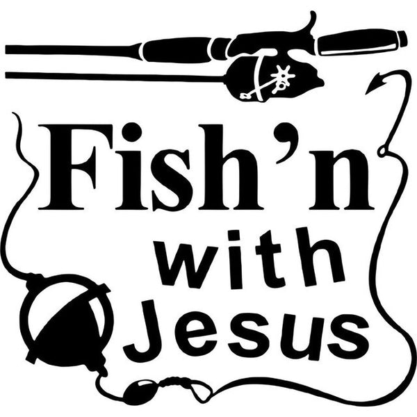 Fish'n With Jesus Car Decal