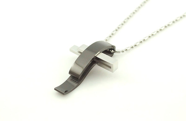 Exquisite Stainless Steel Cross Pendant