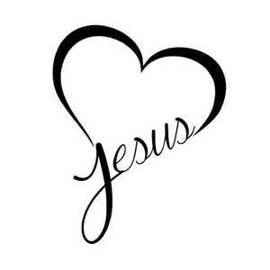 Heart for Jesus Decal