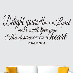 Decorative Scripture Wall Art Psalm 37:4