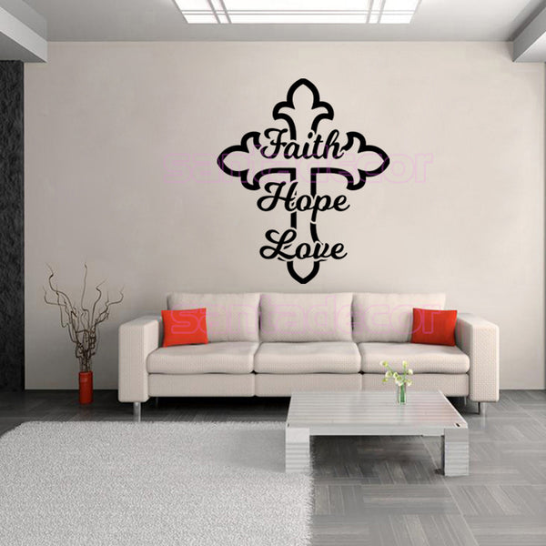 Faith, Hope, Love Wall Decal