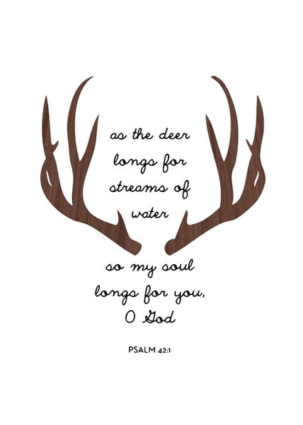 Scripture Wall Decor Psalm 42:1