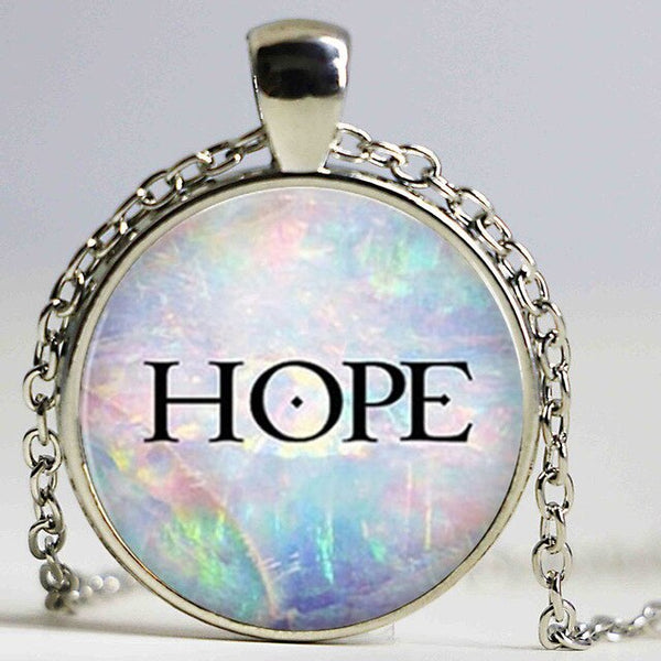 Round Glass Inspirational Necklace